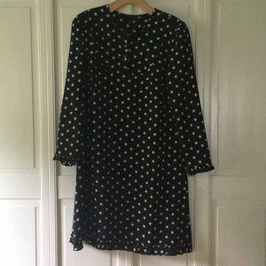 JCrew silk all over star print dress